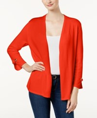 Charter Club Embellished Cardigan Created For Macy's Poppy Glow