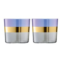 Lsa International Bangle Tumbler Set Of 2 Blueberry