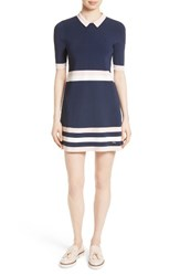 Ted Baker Women's London Origami Stripe Knit Dress Navy