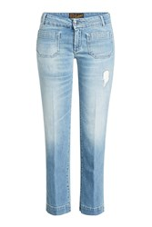 Seafarer Cropped Jeans With Distressed Detail