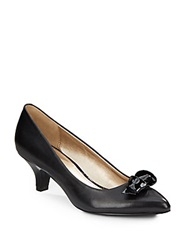 Circa Joan And David Edlyn Patent Bow Leather Pumps Black