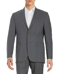 Lauren Ralph Lauren Two Button Wool Jacket Grey