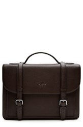 Men's Ted Baker London 'Jagala' Pebbled Leather Messenger Bag