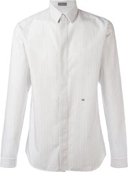Christian Dior Homme Striped Shirt White