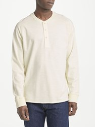 John Lewis And Co. Long Sleeve Henley T Shirt Natural