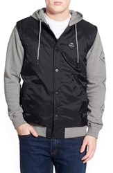 Men's Rvca 'Lookback' Lightweight Hooded Jacket Grey Noise
