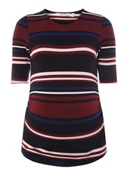Dorothy Perkins Maternity Multi Coloured Ruched Side T Shirt Fl Multi