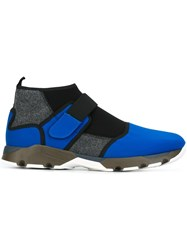 Marni Panelled Sneakers Blue