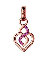Links Of London Infinite Love Pave Charm Rose Gold