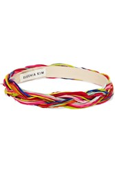 Eugenia Kim Giana Braided Feather Headband Pink