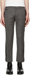 Marc Jacobs Grey Wool Striped Trousers