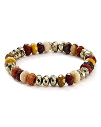 Bourbon And Boweties Stretch Bracelet Brown
