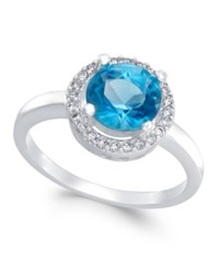 Charter Club Silver Tone Blue Stone Pave Ring Only At Macy's