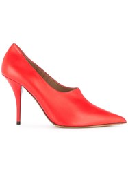 Tabitha Simmons Pointed Toe Pumps Red
