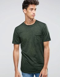 New Look Burnout T Shirt In Dark Khaki Dark Khaki Green