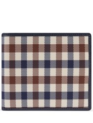 Aquascutum London Club Check Wallet With Coin Purse Navy