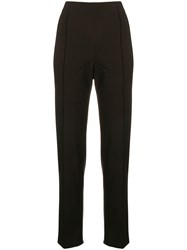 Romeo Gigli Vintage Pinstriped Trousers Black