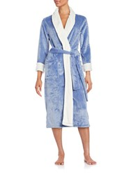 N Natori Cashmere Fleece Robe Blue