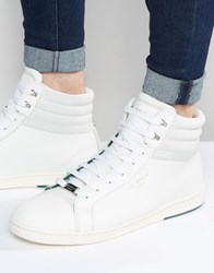 Ted Baker Mykka Hi Top Leather Trainers White