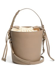 J.W.Anderson Bucket Leather And Canvas Tote Beige