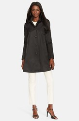 Women's Lauren Ralph Lauren Raincoat With Detachable Hood Black