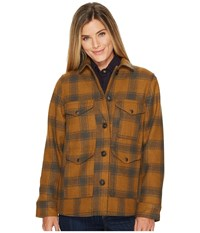 Filson Lined Seattle Cruiser Jacket Cider Charcoal Women's Coat Brown