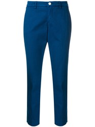 Re Hash Cropped Tailored Trousers Blue