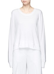 Alexander Wang Dolman Sleeve Enzyme Wash French Terry Sweatshirt White