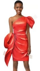 Moschino One Shoulder Dress Red