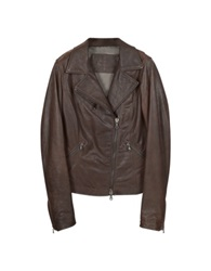 Forzieri Brown Leather Motorcycle Jacket