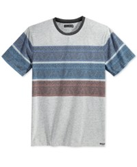 Ocean Current Men's Diego Stripe T Shirt Grey Multi