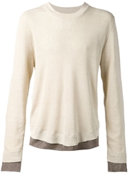Maison Martin Margiela Maison Margiela Layered Jumper Nude And Neutrals