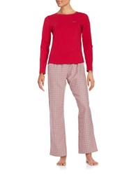 Calvin Klein Long Sleeve Tee And Pajama Pants Set Endless