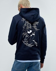 Billionaire Boys Club Hoodie With Heart Logo And Back Print Navy