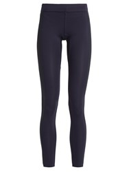 Aeance Compression Panel Performance Leggings Navy