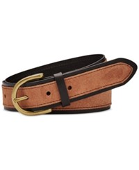 Fossil Colorblock Jean Belt Black Brown