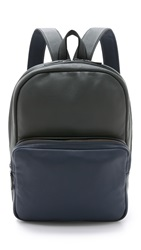 Marc By Marc Jacobs Classic Leather Colorblock Backpack Washed Ink