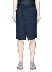 Ffixxed Studios Fold Front Belted Shorts Blue
