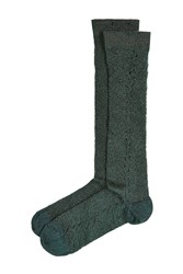 Golden Goose Socks With Metallic Thread Green