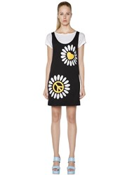 Love Moschino Cutouts Layered Cotton Jersey Dress