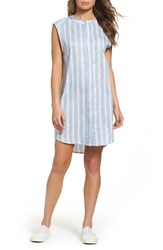 Bb Dakota Women's Sleeveless Chambray Shirtdress Y D Stripe Chambray