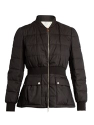 Moncler Gamme Rouge Sonora Cotton And Silk Blend Quilted Down Jacket Black