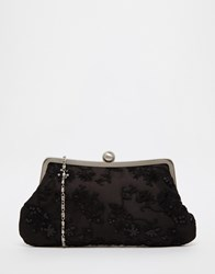 Chi Chi London Chi Chi Clip Top Clutch Bag With Lace Overlay Multi