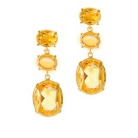 Alexandra Alberta Lexington Citrine Earrings Gold Yellow Orange