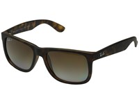 Ray Ban Rb4165 Square Boyfriend 55Mm Havanna Rubber Brown Gradient Plastic Frame Fashion Sunglasses Black