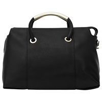 Reiss Leather Soft Zipped Tote Black