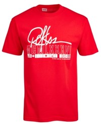 Young And Reckless Script Logo Print T Shirt Red