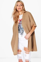 Boohoo Cape Cardigan Tan