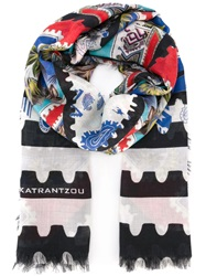 Mary Katrantzou 'Botanist' Scarf Blue