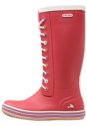 Viking Retro Sprinkle Wellies Tomato Red